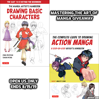 Enter to win the Mastering the Art of Manga Giveaway. Ends 8/15 Open US Only.