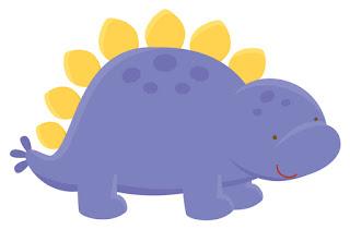 Animales tiernos para imprimir dinosaurio