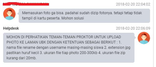 Info tambahan yang susah Upload Foto di Web UNBK
