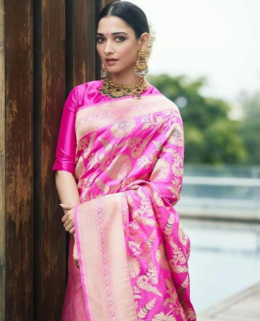 Tamanna Bhatia Full HD Saree Wallpaper