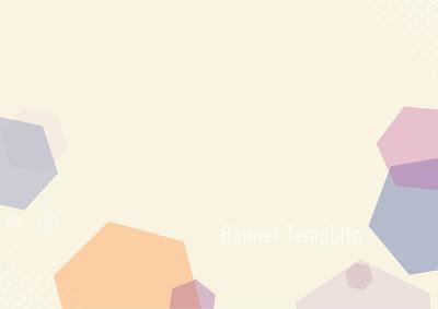 poligonal-banner-template-orange-two