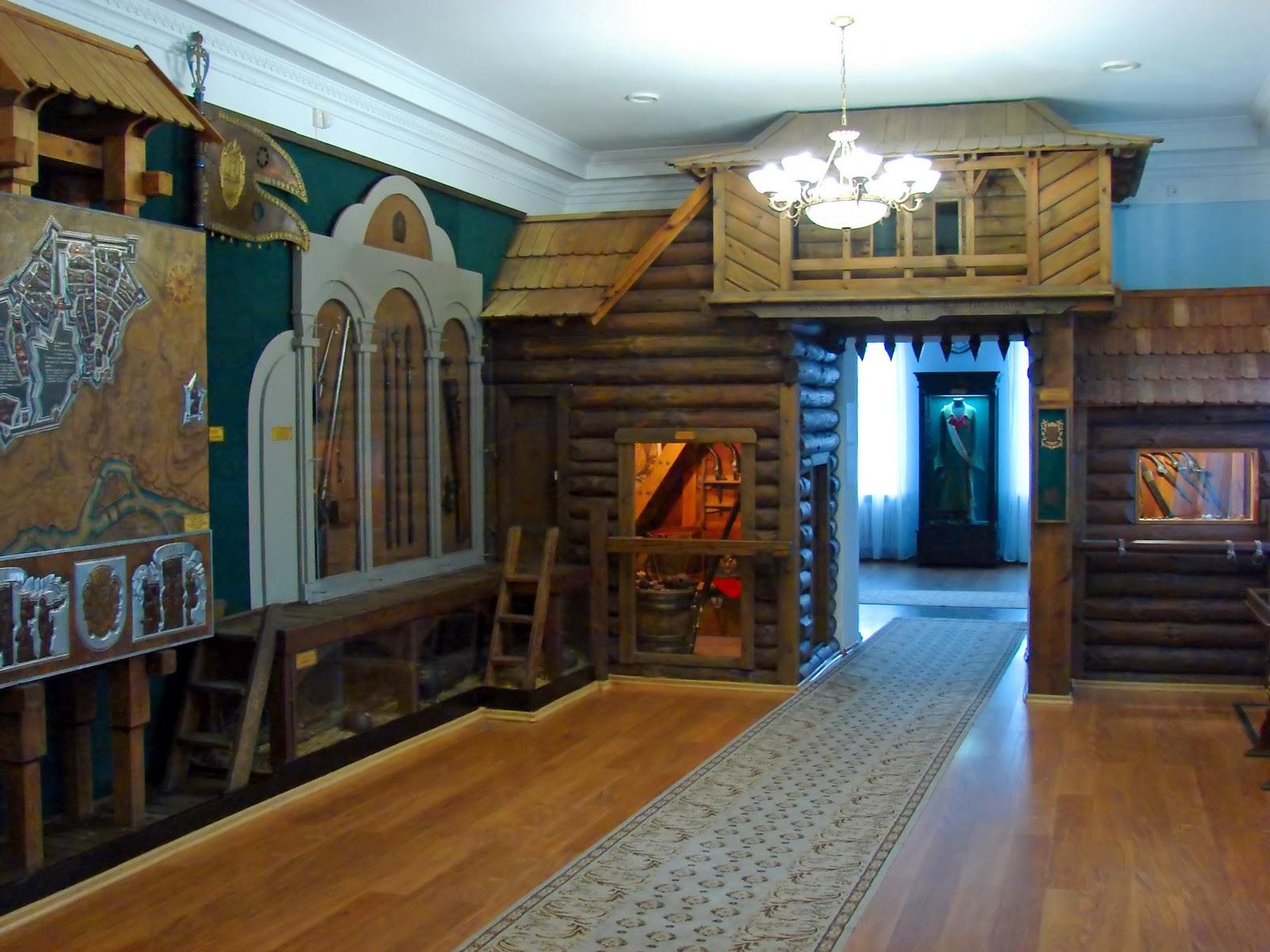Зал, стилизованный под крепость