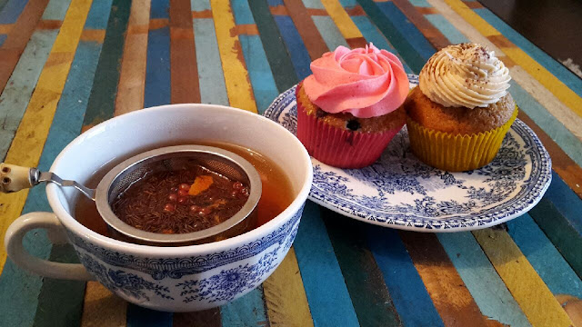 thé, cupcake, detente