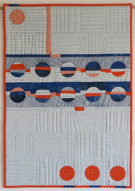 Finished quilt - Applique circles - Carolyn Friedlander's fabrics