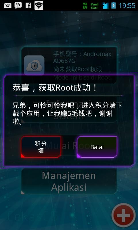 Cara Root Andromax I Tanpa PC
