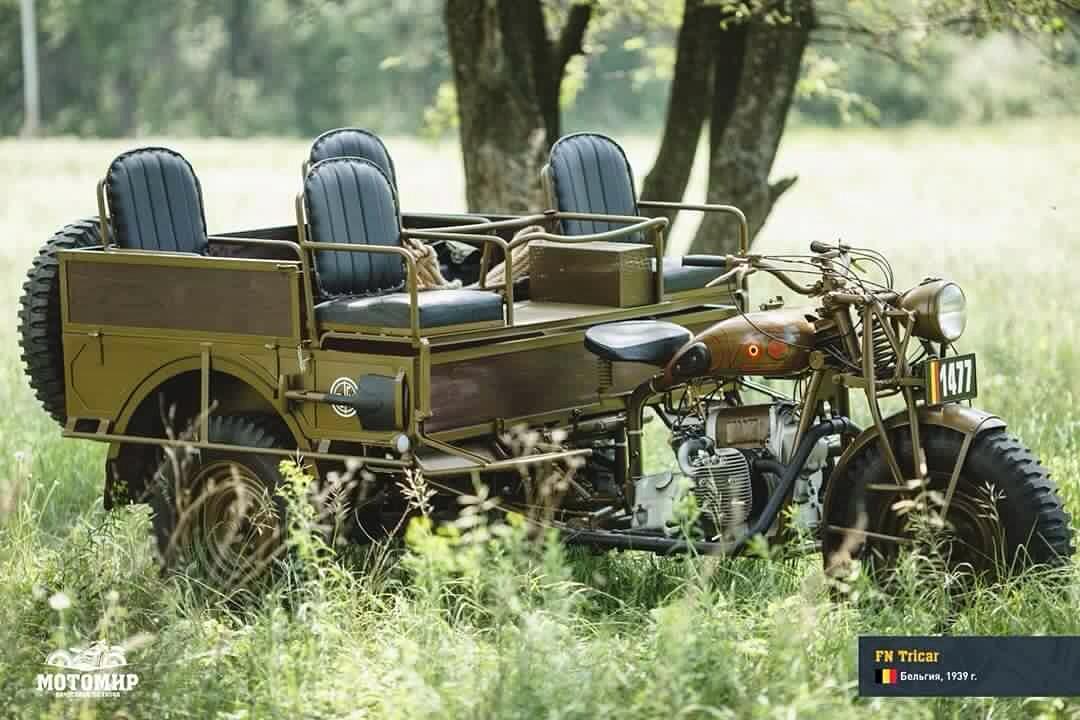 Sejarah Motor Klasik - FN Tricar 1939 dari Belgia