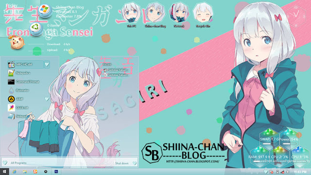 Windows 8/8.1 Theme Eromanga Sensei - Izumi Sagiri by Enji Riz