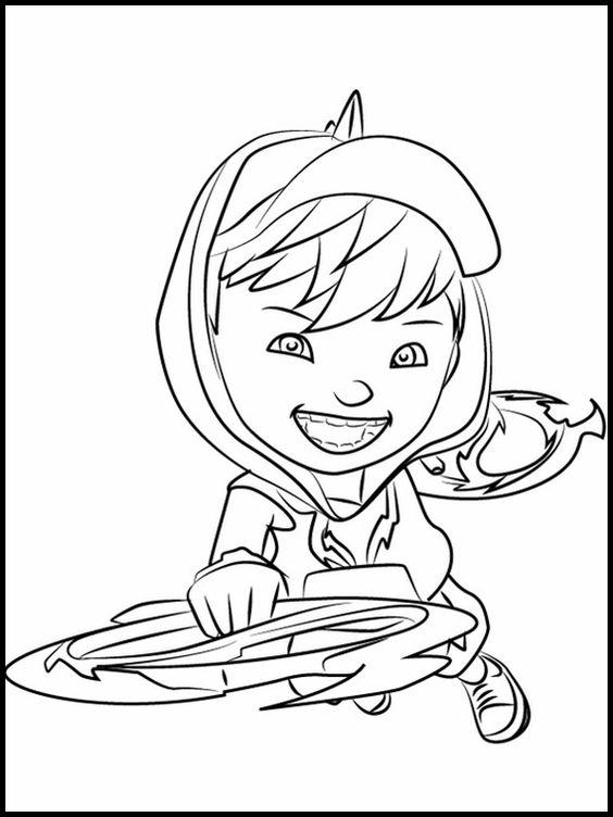 Tranh cho bé tô màu BoBoiBoy 12
