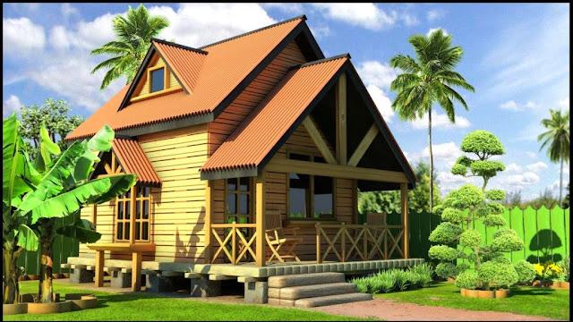 5 Dekorasi Rumah Kayu Kampung ini Unik & Keren Abis
