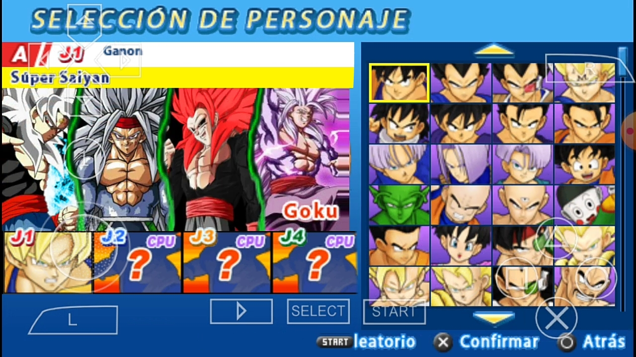 DBZ TTT MOD With Menu