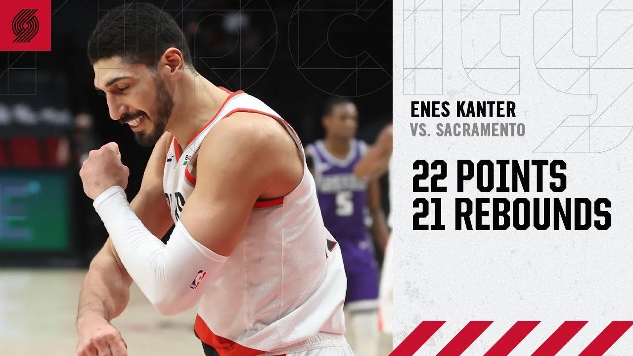 Enes Kanter 22pts 21reb vs SAC | March 4, 2021 | 2020-21 NBA Season