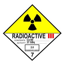 radioactive materials sign cat.iii