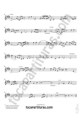 Hoja 2  Trompeta y Fliscorno Partitura de Meditación Sheet Music for Trumpet and Flugelhorn Music Scores PDF/MIDI de Trompeta