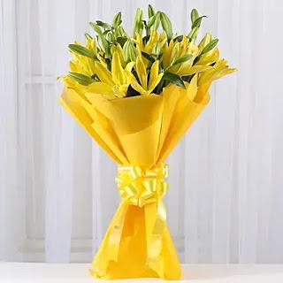 باقة ورد اصفر جميلة ، صور باقة ورد