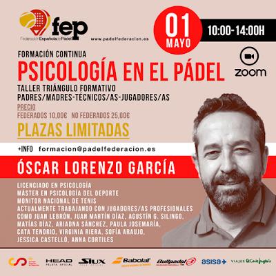 """La FEP lanza un taller online sobre psicología deportiva en pádel: el triángulo formativo """"Familia-Entrenador-Deportista"""""""