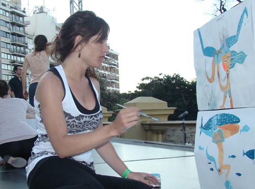 Наивные рисунки акварелью. Estela Cuadro 31