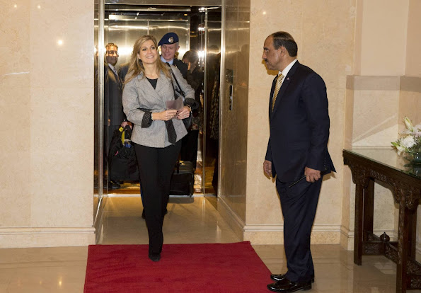 Queen Maxima of The Netherlands leaves the Serena Hotel for her flight back to The Netherlands after her three day visit to Pakistan as United Nations Secretary-General's Special Advocate for Inclusive Finance for Development.