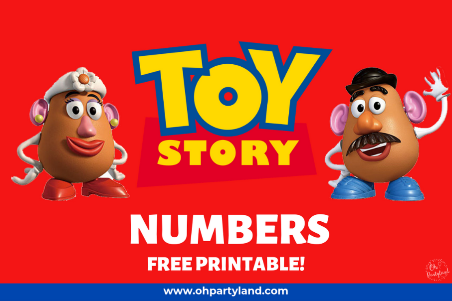 free printable toy story numbers oh