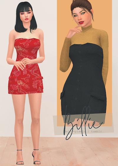 - ̗̀ Billie Dress + Acc Bodysuit  ̖́- (TS4)