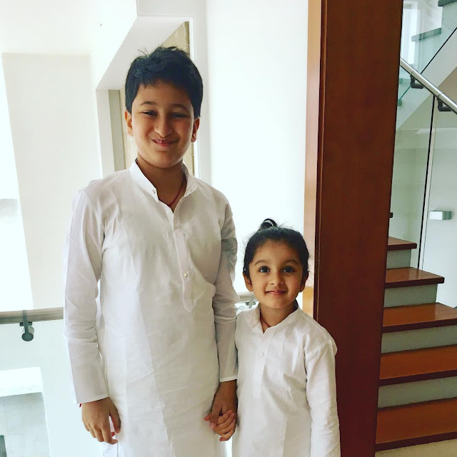 Mahesh babu kids gautham,sitara visit tirupathi