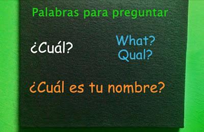 cuadro con Palabras Interrogativas en Español