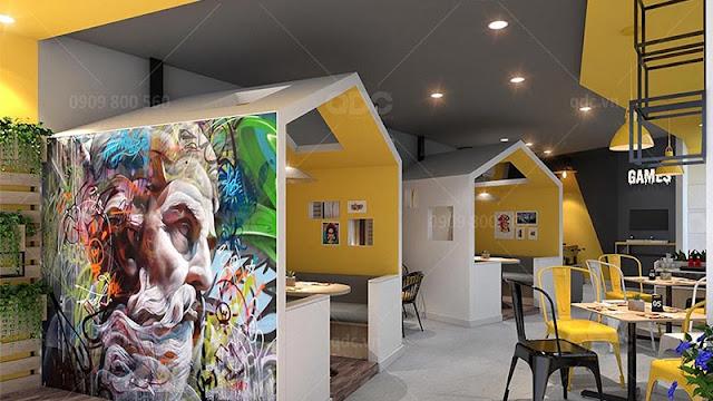 Trang trí nội thất nhà hàng Zodiac theo khuynh hướng hiện đại, trẻ trung