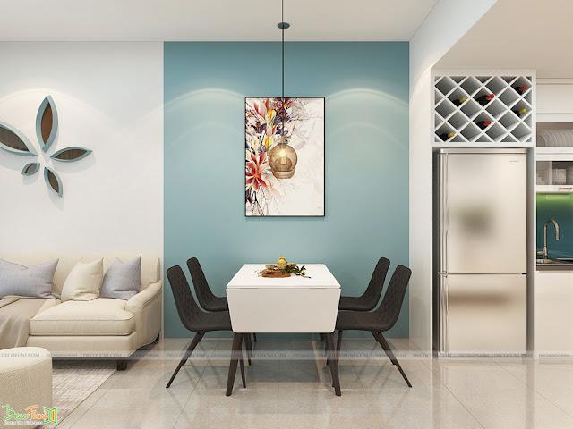Thiết kế và thi công hoàn thiện nội thất căn hộ chung cư Kingsway Tower - Phòng bếp và bàn ăn