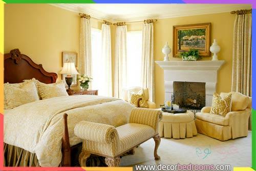 غرف نوم صفراء للمتزوجين