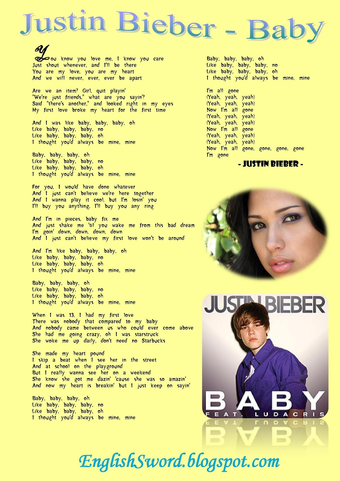 Justin Bieber Baby Song Mp3 Free Download : justin, bieber, download, Lyrics, Center:, Justin, Bieber, Download