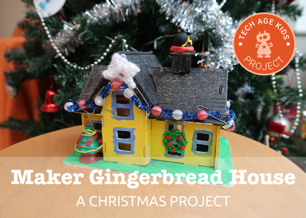 a makers gingerbread house christmas coding craft