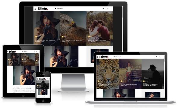 Disto blogger Template FREE Download