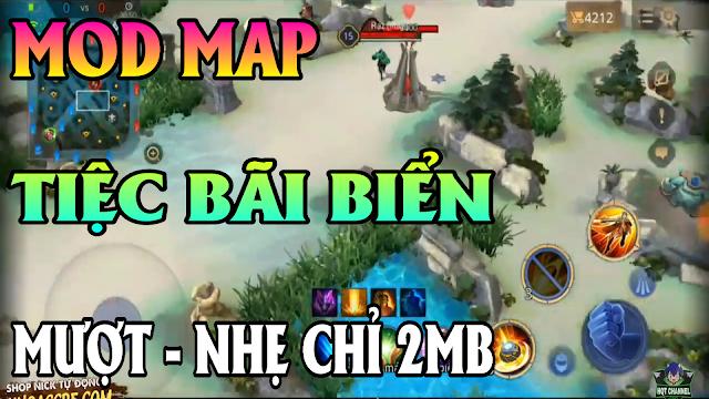 Mod Map Fix Lag Map Tiệc Bãi Biển Liên Quân Siêu Đẹp Và Mượt Chỉ 2MB | HQT CHANNEL