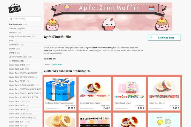 DaWanda - ApfelZimtMuffin Shop