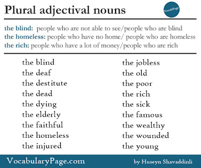Adjectival nouns