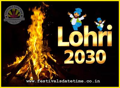2030 Lohri Festival Date & Time, 2030 Lohri Calendar