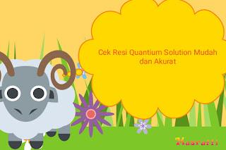 Cek Resi Quantium Solution Mudah dan Akurat