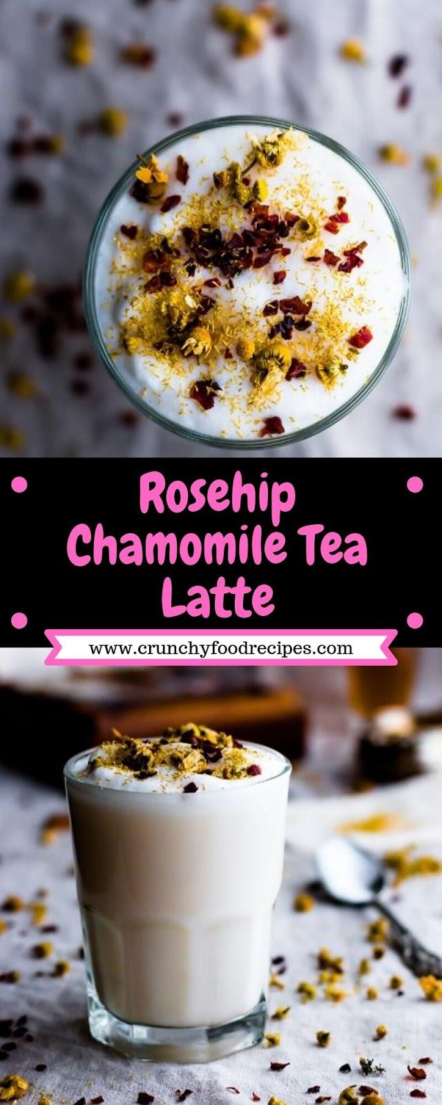 Rosehip Chamomile Tea Latte