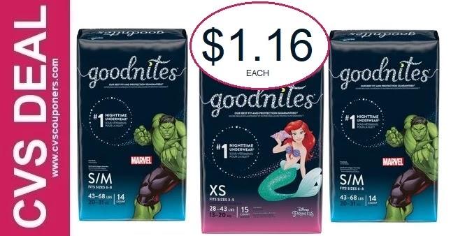 Mega Deals on Goodnites at CVS 9-12-9-18