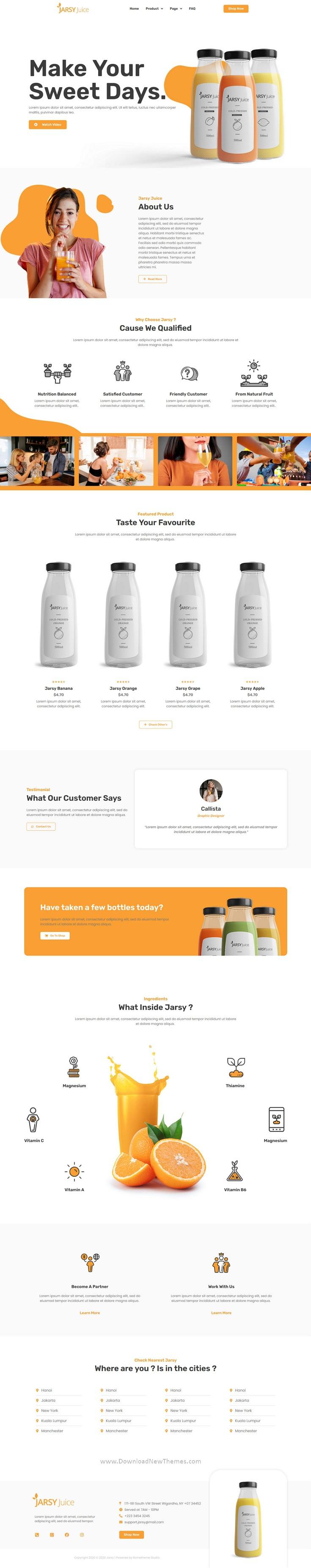 Drink Brand Elementor Template Kit