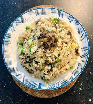 Creamy Mushroom & Peas Risotto