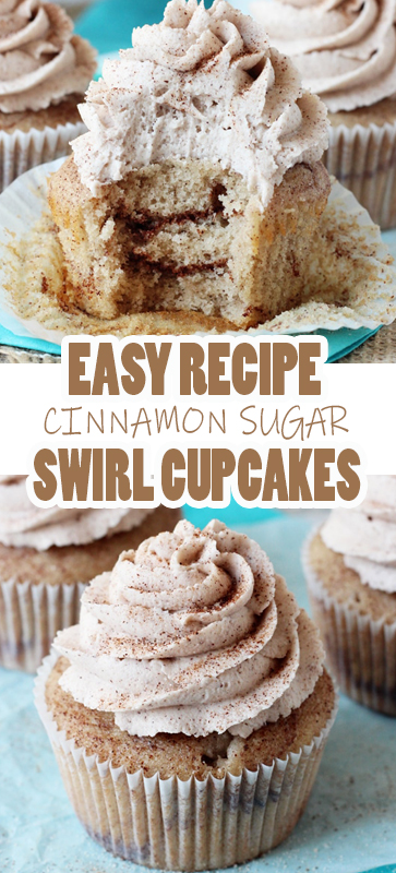 EASY #CINNAMON #SUGAR #SWIRL #CUPCAKES #RECIPE