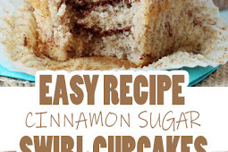 EASY CINNAMON SUGAR SWIRL CUPCAKES RECIPE