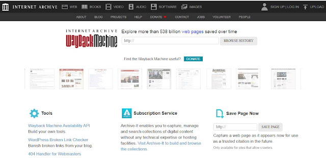 wayback machine internet archives website restore content scrape
