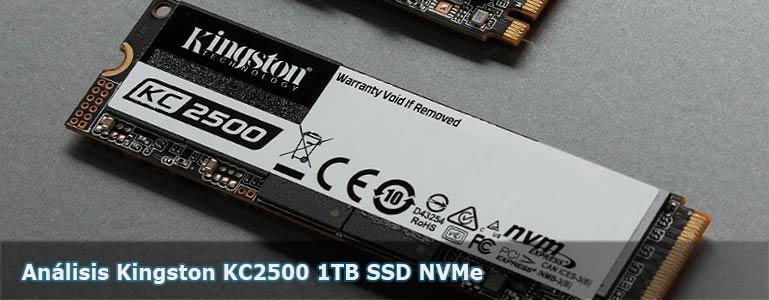 Análisis SSD KINGSTON KC2500 1TB SSD M.2 NVMe