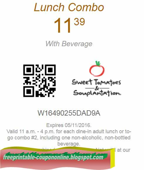 Sweet tomatoes coupon sept 2018