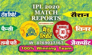 IPL T20 KXIP vs CSK 18th Today Match Prediction Guru |100% Sure Winner