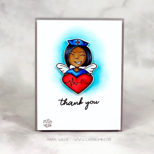 Maria Willis, Cardbomb, HAI Supply, Pear Blossom Press, light-up card, #video, #videotutorial, #cards, #stamp, #ink, #paper, #craft, #papercraft, #creative, #handmade, #handmadecards, #art, #diy, #copicmarkers, #copics, #honeybeestamps, Erin Lee Creative, interactive cards,