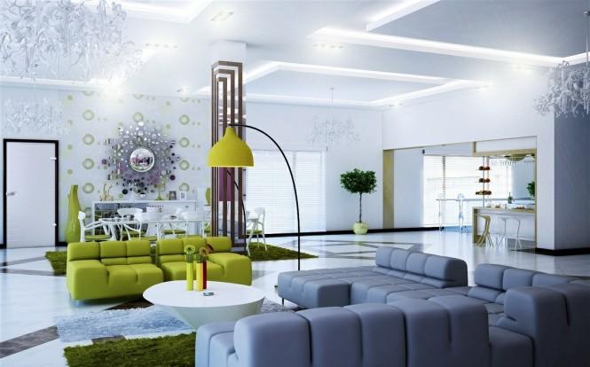 25 Kumpulan Denah Model Desain Gambar Ruang Tamu Minimalis Modern