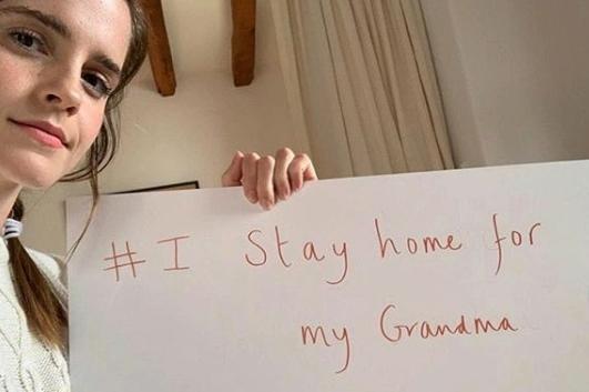 Emma Watson publica foto no Instagram para dizer que está em casa durante a quarentena | Ordem da Fênix Brasileira
