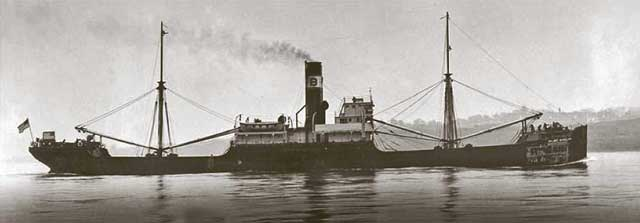 SS Major Wheeler, sunk on 6 February 1942, worldwartwo.filminspector.com